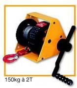 Treuils a engrenages à Manivelle réglable - Manibox GR : 150 kg à 2 T.