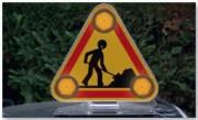 Triangle de signalisation tri flash pour véhicules - Dimensions (mm) : 500 - 700
