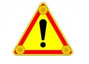 Triangle signalisation danger à LED - Simple et double faces