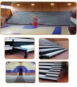 Tribune telescopique avec sièges - Montage rapide - du sur-mesure
