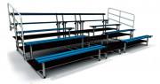 Tribunes de stade - 2, 3 ou 4 ranges - Assise aluminium