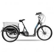 Tricycle électrique à charge de 120kg - Tricycle pour adulte avec panier
