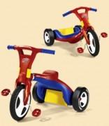 Tricycle enfant pour spécialiste vente de vélo - Transformation rapide du tricycle en chopper. Dossier de siège ajustable