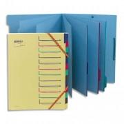Trieur 7 compartiments bleu, en carte forte - Extendos