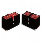 Trieur de bureau rdéon 31 compartiments noir, couverture toilée, onglets métalliques - Extendos