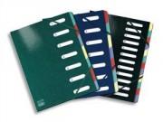 Trieur Samoa 12 compartiments coloris assortis, couverture en carte pelliculée 7/10ème - Elba