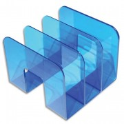 Trieur vertical 3 compartiments Business bleu indigo transparent S11395540 - ATLANTA
