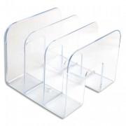 Trieur vertical 3 compartiments Business cristal transparent S11395400 - ATLANTA
