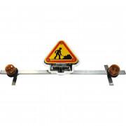 Triflash pour véhicules - Hauteur de triangle : 500 mm ou 700 mm