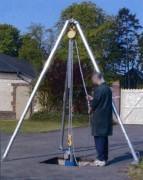 Tripode de levage télescopique aluminium - Capacité possible : 500 Kg à 3T