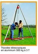 Tripode télescopique avec treuil CT4 - 500 kg à 3 T