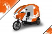 Triporteur électrique 1 place - Pour transport de marchandises, la communication et le street vending