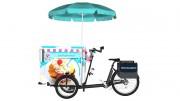 Location triporteur électrique pour vente ambulante de glaces et produits frais - Autonome thermo-régulé en froid positif ou négatif