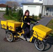 Triporteur vélo courrier postal - Charge utile: 250kg  -   Différentiel