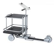 Trottinette avec plate-forme - Charge : 200 Kg - Capacité de l'étagère - 50 kg