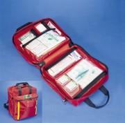 Trousse de secours d'urgence - Dimensions : 24 x 40 x 45 cm.