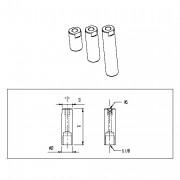 Tube aluminium Longueur 20à40mm - TUB 05 020