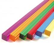 Tube carré PMMA coloré - Dimensions extérieures (mm) : 3 x 3 à 300 x 300