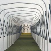 Tunnel d'accès aluminium - Largeur en : 200, 240, 280 ou 300 cm - Bâche PVC de 650 gr/m²