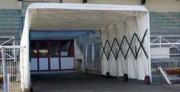 Tunnel d'accès au stade - Long : 2,20 à 10 ml  -   Haut : 2 à 2,20 m
