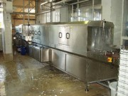 Tunnel de lavage conserverie - Vitesse réglable sur le panneau de contrôle en fonction du degré de salissure