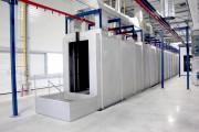 Tunnel traitement surface par aspersion - Traitement des pièces au défilé ou en cellules