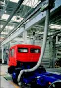 Tuyau d'extraction de gaz d'échappement de moteurs - Jusqu'à +1100°C