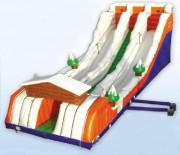 Tyrolienne gonflable extérieure jeu pour enfants - Dimensions : longueur 16,0m x largeur 6,0m x hauteur 6,0m