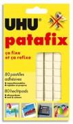 UHU Etui de 6 bandes pédécoupées de 80 pastilles Patafix Blanche 042620 - Uhu