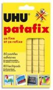 UHU Pastilles adhésives prédécoupées, réutilisables, PATAFIX - Uhu