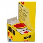 UHU Pochette de 50 pastilles prédécoupées double-face FIX 48805 - Uhu
