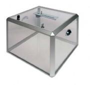 Urnes, boites à idée - Dimensions (HxLxP) pour modèle simple: 25x25x25 cm -  modèle avec porte-visuel: 20x20x20 cm
