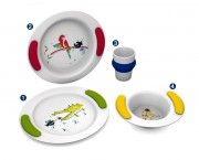 Vaisselle ergonomique pour enfants - Adaptés à la motricité et à la force de l'enfant