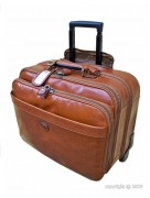 Valise de cabine cuir avec trolley