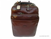 Valise de cabine en cuir de vachette