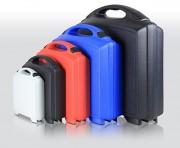 Valisette plastique ABS - 4 coloris standards, noir, gris clair, rouge et bleu