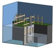Vanne murale manuelle - Dimensions de 200x200 jusqu'à 2000x2000 mm