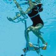 Vélo aquatique design - Dimensions : Longueur 55 cm. Largeur : 95 cm. Hauteur 155 cm