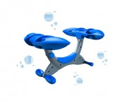 Vélo aquatique flottant - Dimensions (L x l x h) : 120 x 105 x 75 cm