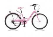 Vélo fille 24'' - Garde-boues, porte-bagages, béquille - 8 à 12 ans