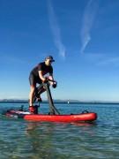 Vélo nautique Fitness sur planche de paddle gonflable - Vélo d'eau gonflable pour activités nautiques