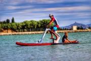 Vélo nautique sur planche de paddle gonflable - Vélo paddle Bikeboard Enjoy pour loisirs nautiques