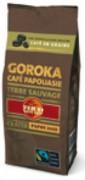 Vente café en grain équitable - Café en grains pur arabica de Papouasie 250g.