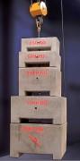 Vente de masses d'essai - Pour contrôle réglementaire - Capacité: de 25 kg à 10 T