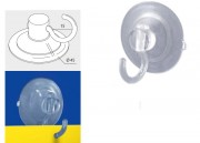 Ventouse double pour affichage publicitaire - A crochet amovible - Diamètre : 45 mm