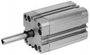 Vérin pneumatique avec taraudage diamètre 20 à 63 mm - Compact série KPZ