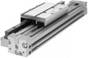 Vérin pneumatique sans tige avec guidage externe à billes - Série RMC-HD