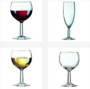 Verre à vin transparent - Différents modèles de verre trempé et non trempé