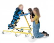 Verticalisateur enfant avec plateau d'activités - Taille Enfant : 1m09 à 1m47