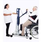 Verticalisateur avec piètement écartement électrique - Poids maximal patient : 180 kg - Fabriqué en France - Certifié CE